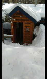 Cabin 3 in winter