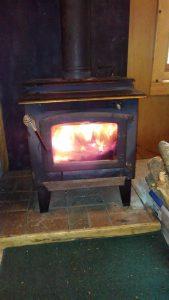 Cabin 4 fireplace